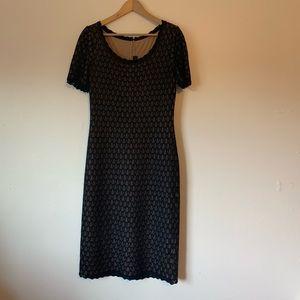 St. John Black Laced Evening Dress 6